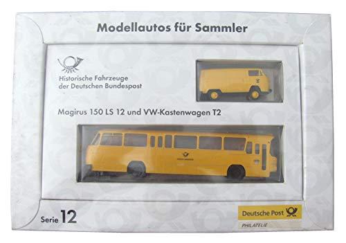 Deutsche Bundespost Brekina Historische Fahrzeuge - T2 Bus & Magirus 150 LS 12 Linienbus - von Brekina