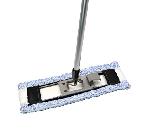 Set Bodenwischer Halter aus Metall 42 cm, Stiel aus Aluminium, FSP - Bodentuch BLAUEXTREM geeignet Hara Vileda u.a.