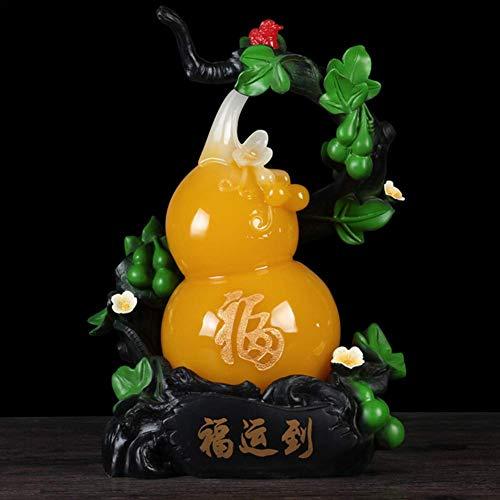 LEILEI Feng Shui Lucky Gourds Bendiciones para la decoración Artesanía Hogar Creativo Sala de Estar Gabinete de Vino Decoraciones Reubicación Regalos de Apertura,A,Pequeño