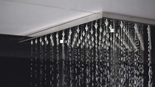 Handheld Accesorios de baño Pantalla de ducha LED ultrafina Boquilla de masaje de lluvia Cabezal de ducha Set de ducha termostática Para el baño (Bath & Shower Faucet Type : Shower Sets)