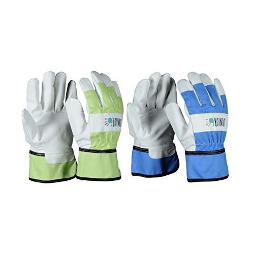 HandschuhMan. OX-ON Kids Gartenhandschuhe Arbeitshandschuhe für Kinder (8-10 Blau)
