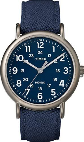 Timex Weekender 40 mm Men Blue Dial Blue Fabric Strap Watch TWF3C8450