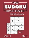 1500 Sudoku Brain Teaser 9x9 con soluciones Nivel 1-3 Vol. 9
