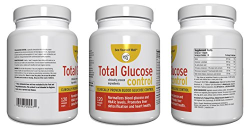 Total Glucose Control: Optimal Blood Sugar Levels & Insulin Sensitivity – Not 1 but 2 Clinically Proven and Trademarked Ingredients + Milk Thistle + Biotin + Alpha Lipoic Acid + Chromium Picolinate