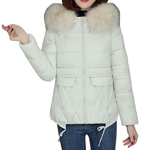 NUSGEAR Daunenjacke Damen Mantel Winter Jacke Ultraleicht Steppjacke Parka Outwear Daunenmantel Coat Warme Steppmantel Einfarbige Jacke mit Kapuze und Pelzkragen