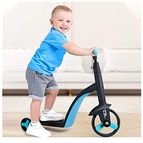 Kids Scooter Kid's 3 in 1 Adjustable Scooter Tricycle Blance Bike Ride-On Toys for 2-6 Age UK in Stock