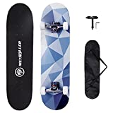 METROLLER Skateboards for Beginners,31 x 8 Complete Standard Skate Boards for Girls Boys, 7 Layer Canadian Maple Double Kick Concave Skateboard for Kids Youth Teens Adults