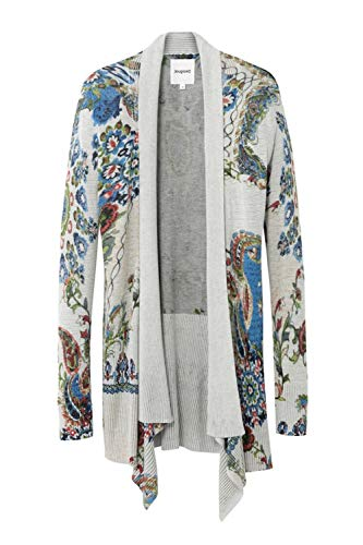 Desigual Womens JERS_PO Cardigan Sweater, Brown, M
