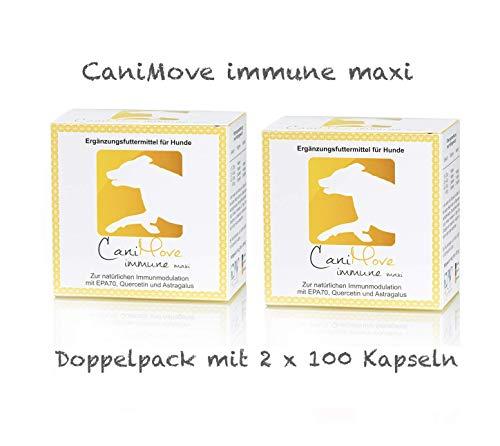 CaniMove Immune Maxi (früher EPA70 Maxi) Doppelpack mit 2 x 100 Kapseln zur Immun-Modulation sowie zur optimalen Omega-3-Versorgung.