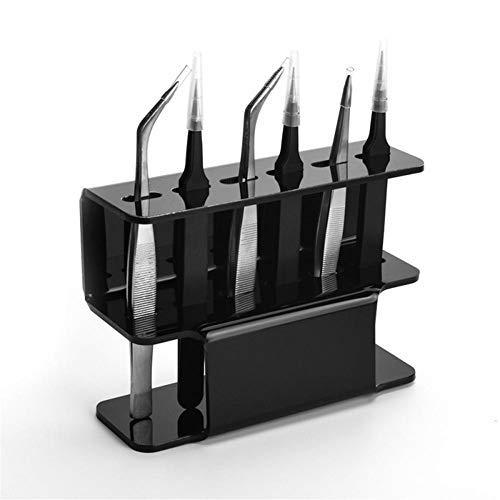 Support De Stockage De Brucelles, Présentoir De Brucelles, Brucelles Acrylique Présentoir,Outils d'affichage de brucelles pour la Collecte et l'arrangement des Cils (Noir)