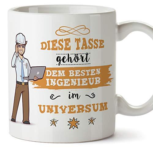 Ingenieur Tasse/Becher/Mug Geschenk Schöne and lustige kaffetasse - Diese Tasse gehört dem besten Ingenieur im Universum - Keramik 350 ml