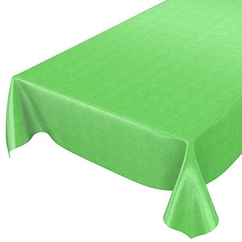 ANRO Wachstuchtischdecke Wachstuch Wachstischdecke Tischdecke Wachstuchdecke Grün Leinenoptik 100 x 140cm