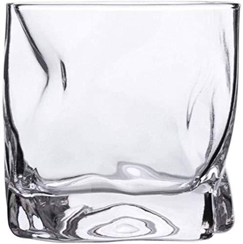 Juego de 2 vasos de whisky torcidos para whisky, vasos de whisky, vasos de whisky ultra claridad, juego de copas de cóctel sin plomo para whisky vintage whisky whisky