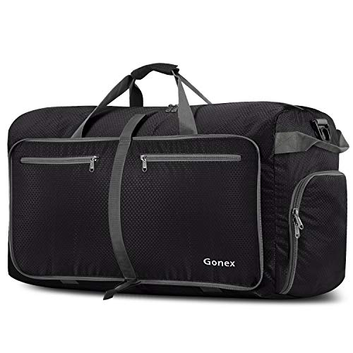 Gonex 100L Packable Travel Duffle Bag, Extra Large Luggage Duffel (Black)