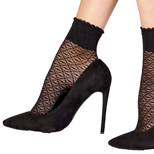 Pretty Polly Black Diamond Netz-Fußkettchen Socken