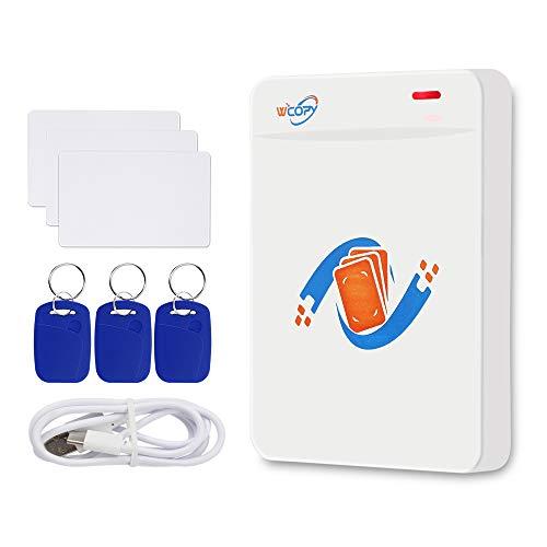 FST RFID ID/IC Duplicatore Fotocopiatrice 125KHz 13,56MHz Lettore di Smart Card Writer Portachiavi Criptato Lettore USB + EM4305 UID Chiavi Scrivibili Supporto NFC Telefono/Braccialetto