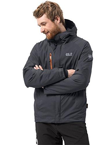 Jack Wolfskin Herren TROPOSPHERE Men Winterwanderjacke Wasserdicht Winddicht Atmungsaktiv Wetterschutzjacke, Ebony, XXL