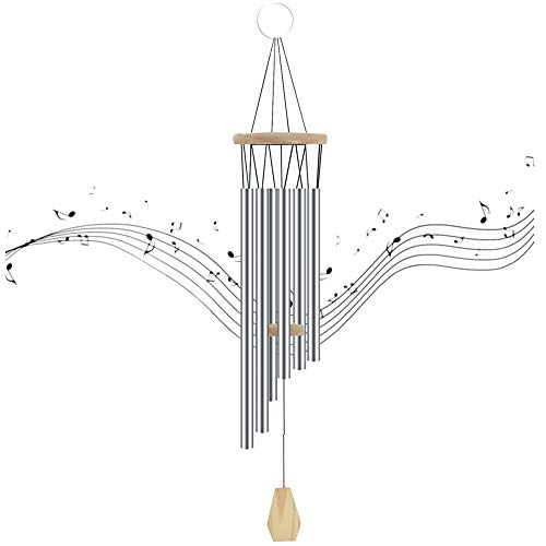 "foxany Wind Chimes Outdoor, 35"" Large Wind Chime, Aluminum Tubes Windchime, High Pitch Wind Bell, Unique Gift Keepsake for Neighbors/Mom/Patio/Indoor Decor"