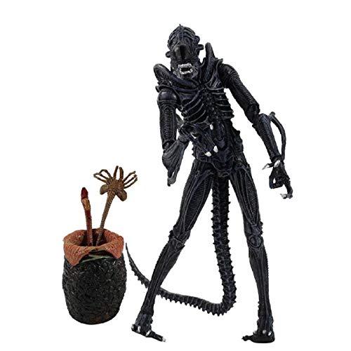 GSDGSD 23cm Juguetes Alien vs Predator Machiko Noguchi Hornhead Predator PVC Figura de acción muñecas de Modelos coleccionables con Huevos