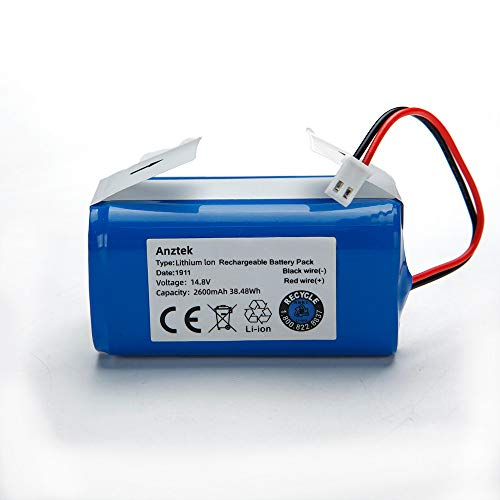 Replacement Battery Pack for Shark Ion Robot RVBAT850 Battery for RV850, RV850BRN, RV850C, RV850WV, RV851WV, RV871, RV871C ,RV700_N, RV720_N, RV725_N, RV761,RV1000S ,UR1000SR 2 Prong 14.4V 2600mAh