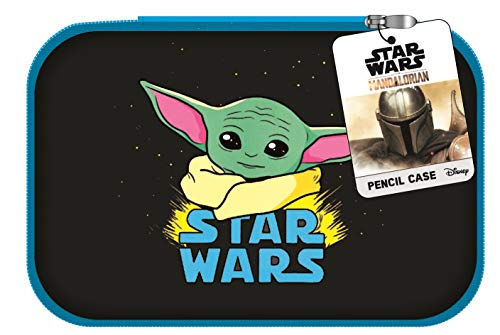 Innovative Designs Star Wars Mandalorian Baby Yoda Pencil Case with Zip Closure, Molded