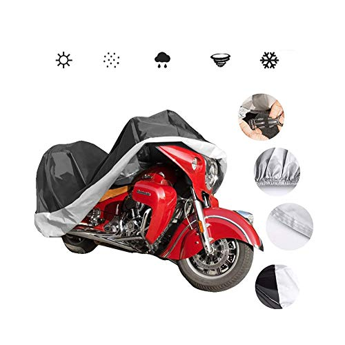Cubierta de la Motocicleta, Compatible con la Moto Cubierta de Tela Oxford Espesado Mobike Cover-Impermeable a Prueba de Polvo de Sunproof