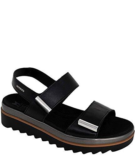 [メフィスト] シューズ 26.0 cm サンダル Dominica Leather Wedge Sandals Black レディース [並行輸入品]