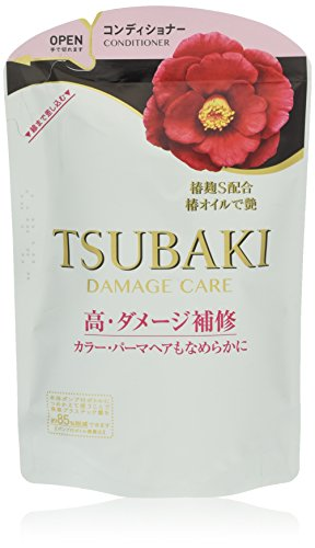 SHISEIDO TSUBAKI DAMAGED HAIR CARE CONDITIONER, REFILL 345ML