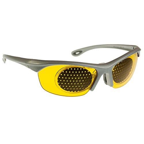 PRiSMA Augentrainingsbrille MURNAU ViSiON GELB mit Rastereinsatz - RAS23