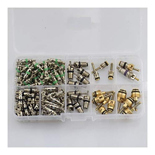 Air Conditioning Valve Core 134pcs Car Air Conditioning Valve Core 134a R134a A/C Sealing Kit Brass