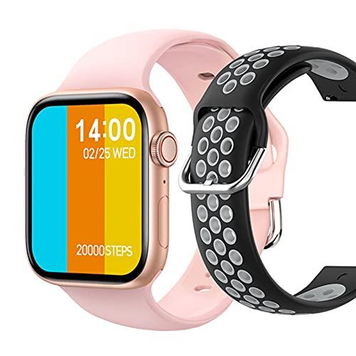 VBF SmartWatch 1.72 Pulgadas T800 Llamadas Bluetooth, Bricolaje de la Aptitud de DIY Ail, Reloj Inteligente Hombres y Mujeres PK IWO W46 W56 Series 6 para iOS Android,C