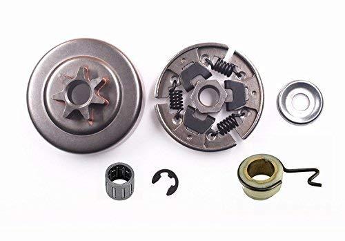 WANWU Kit de acoplamiento de rueda de cadena compatible con Stihl 017 018 021 023 025 MS170 MS180 MS210 MS230 MS250 MS251, rueda de cadena y aguja