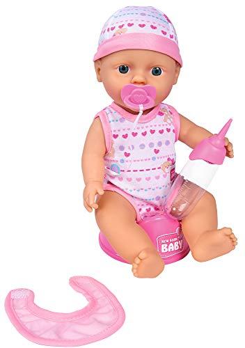 Simba 105037800 - New Born Baby, mit Trink und Nässfunktion Babypuppe, rosa