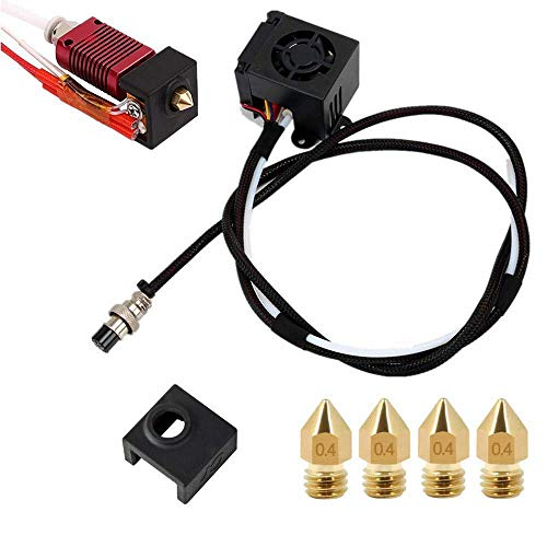 KTZAJO 3D Printers Replacement Parts Assemble MK8 Extruder Hotend Kits Fit for Printing Printer CR-10 CR-10S CR10S5