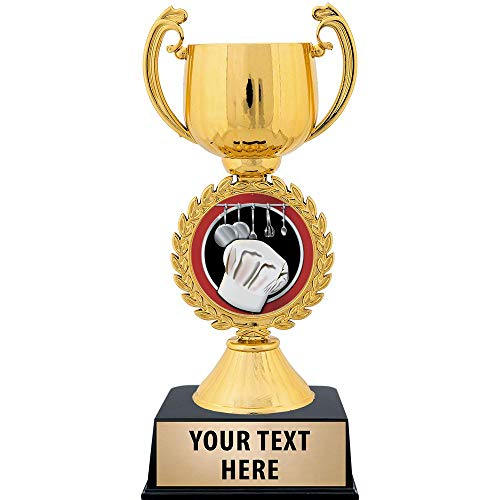 Crown Awards Personalized Cooking Trophy, 7.25' Gold Cup Cooking Trophies with Free Custom Engraving 1 Pack