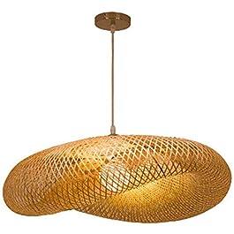 Nordic Simple Branche Forme Lustre, Sud-Est Asiatique Tropical DIY Osier Rotin Suspension, Restaurant Bar Hôtel Chambre…