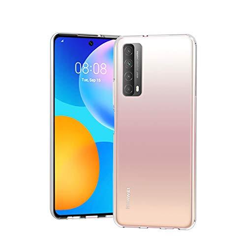Wonantorna Coque pour Huawei P Smart 2021, [Anti-Jaune] [Ultra Mince] [Crystal Clear] [Antichoc] [Protection antichute] Housse en TPU Silicone Souple pour Huawei P Smart 2021 - Transparente