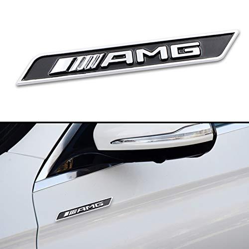 XHULIWQ Auto 3D Metall Chrom Emblem, Für Mercedes Benz ABRG Klasse GLK GLA C200 E200 C200L S400 S500 S600, Auto Außenaufkleber Abzeichen Aufkleber Zubehör Dekoration