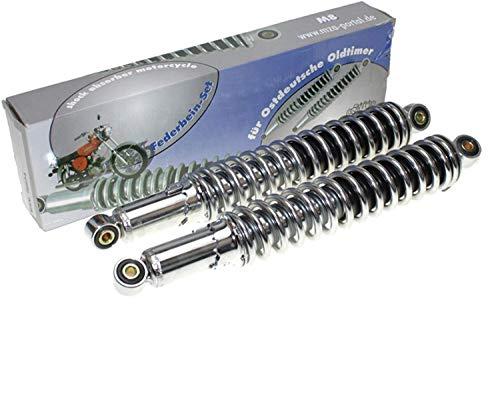 2 SWH Federbeine Stoßdämpfer hydraulisch 365 mm verstellbar Chrom für Simson N*M