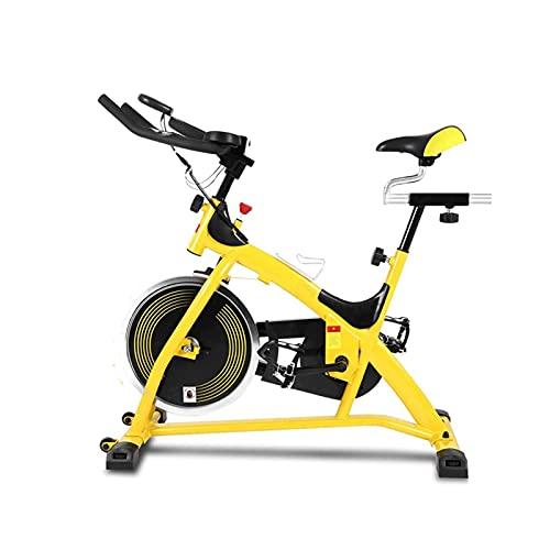 Bicicleta estacionaria de ciclismo interior, bicicleta de ejercicio de cinturón de silencio de volante con pantalla de ejercicio de pulso y pantalla LCD para el entrenamiento del gimnasio de Cardio Ho
