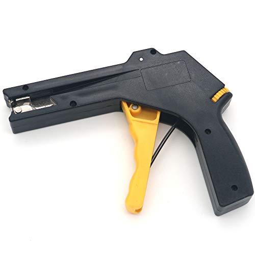2 en 1 NUZAMAS Pistola de sujeción y corte de cables de nailon, pistola de sujeción de cables resistente para herramientas de sujeción y corte de nailon