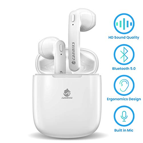 CanMixs Cuffie Bluetooth 5.0 Auricolari Senza Fili,Cuffie Wireless Sport Riduzione del Rumore in Ear Auricolare Bluetooth, Compatibile per Apple Airpods PRO/Android/iPhone/Samsung/Huawei