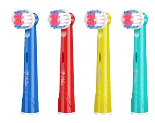 Testine Spazzolino Elettrico Oral B Bambini/Confezione da 4 Testine per Spazzolino Elettrico Oral-B Bambini Testine Ricambio Spazzolino per Bambini di Milos
