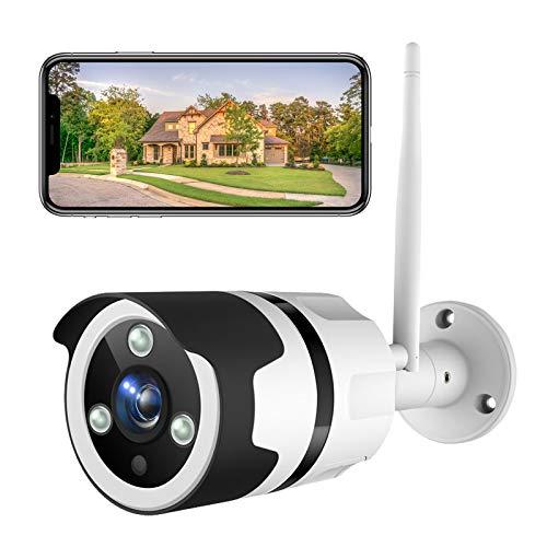 NETVUE Überwachungskamera Aussen, 1080P WLAN Kamera Outdoor IP66 wasserdicht Außen Alexa Sicherheitskamera mit Nachtsicht, Zwei-Wege-Audio, Bewegungserkennung, Unterstützt bis zu 128G SD-Karte