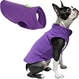 Gooby Dog Fleece Vest - Lavender, Medium - Pullover Dog Jacket with Leash Ring - Winter Small Dog Sweater - Warm Dog Clothes for Small Dogs Girl or Boy for Indoor and Outdoor Use