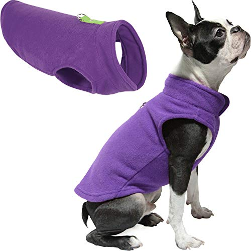 Gooby Dog Fleece Vest - Lavender, Small - Pullover Dog Jacket with Leash Ring - Winter Small Dog Sweater - Warm Dog Clothes for Small Dogs Girl or Boy for Indoor and Outdoor Use