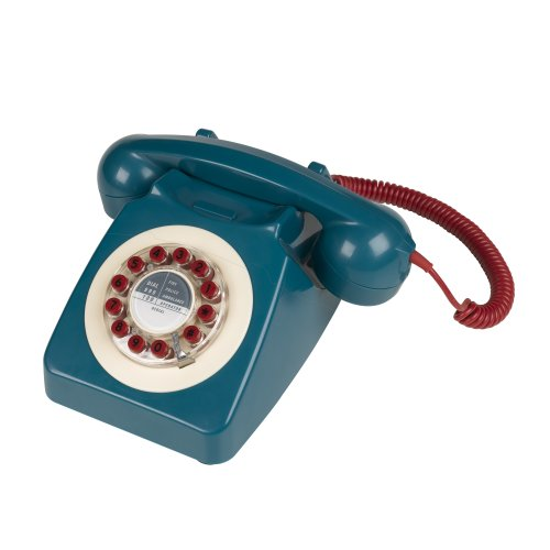 746 Nineteen Sixties Design Classic Retro Telephone - Petrol Blue