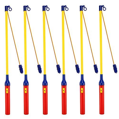 Laternenstab mit LED, 6er-Pack LED Elektronischer Laternenstabfür Kinderpartys, Kindergarten, Kostümpartys, Halloween, Weihnachten und Mehr