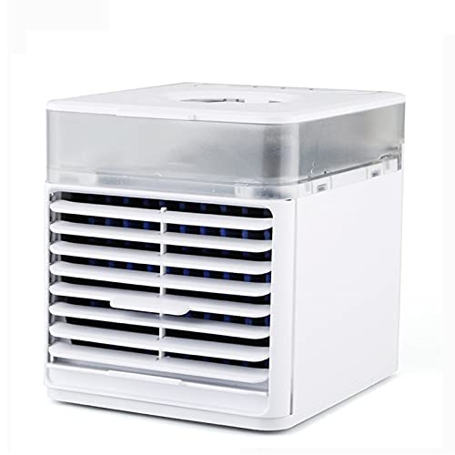 Humidifier Fan & Purifier Mobile Air Conditioners Personal Space Air Cooler Portable Air Cooler, desktop mini air USB cooler personal 7 colors LED conditioning air fan cooling portable home office sm