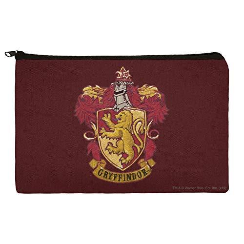 Harry Potter Gryffindor Painted Crest Pencil Pen Organizer Zipper Pouch Case